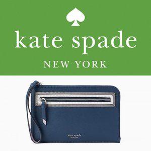 NWT Kate Spade Reiley Shadow Anchor L-zip wristlet